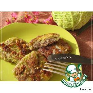 Рецепт: Шницели из савойской капусты в грецких орехах