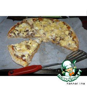 Рецепт: Пицца Двойной сыр эконом