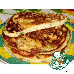 Рецепт Блины с начинкой из яиц и зелeного лука