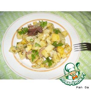 Рецепт Запеченое мясо и картофель