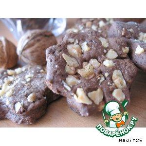 Рецепт: Шоколадно-ореховое печенье