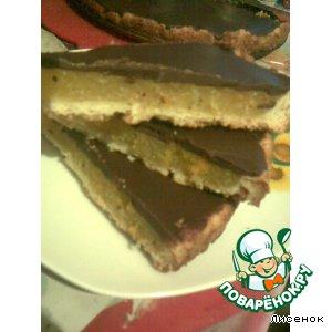 Рецепт: Шоколадный тарт с апельсиновым желе