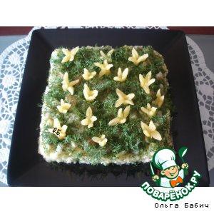 Рецепт: Салат Подснежники