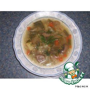 Рецепт: Легкий овощной суп Из духовки