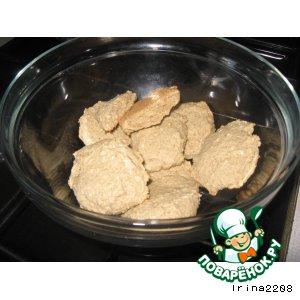 Рецепт: Постное кокосово-овсяное печенье на рассоле