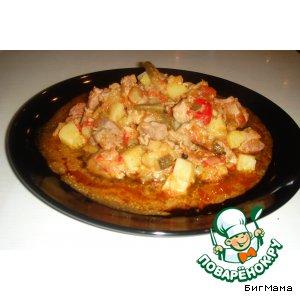 Рецепт: Овощное рагу с индейкой Маруся