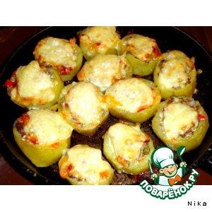 Рецепт: Запечeнный  картофель (с овощами  и  грибами)