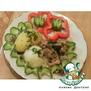 Рецепт: Свинина с яблоками и коньяком