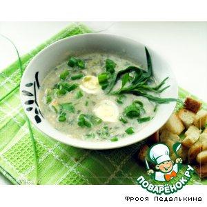 Рецепт: Суп-пюре из первой зелени