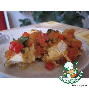 Рецепт: Рыба под овощным соусом