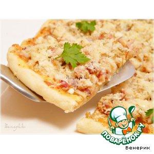 Рецепт: Пицца Цыпленок Барбекю