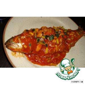 Рецепт: Рыба по-китайски в остро-чесночном соусе