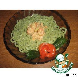"Рецепт: ""Спагетти с морепродуктами"""