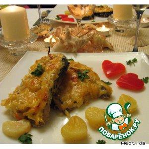 Рецепт: Рыба с картофелем Сердечный разговор