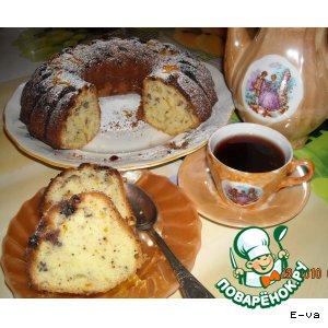 Рецепт: Кекс с орехами, изюмом и цедрой