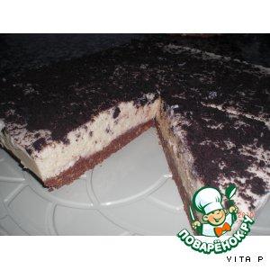 Рецепт: Миндальный пирог-десерт без выпечки