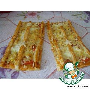 Рецепт: Пицца на 23 февраля Майорские погоны
