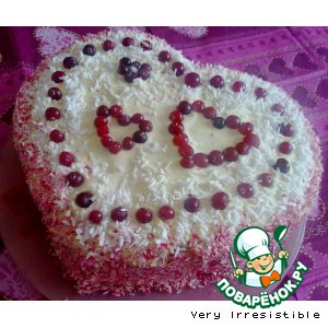 "Рецепт: Торт ""4 Сердца"""