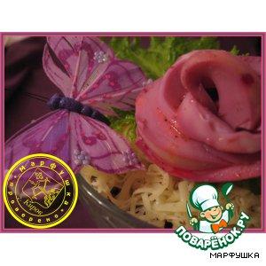"""Рецепт: Салат """"Розовые розы"""""""