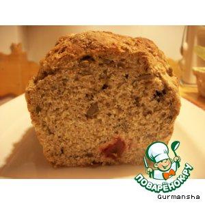Рецепт: Хлеб с семечками, овсянкой и сухофруктами