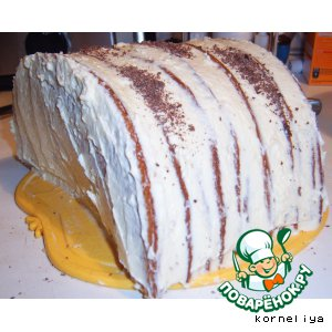 "Рецепт: Торт ""Полено"""