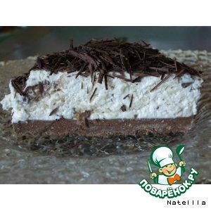 """Рецепт: Сырный торт с шоколадными батончиками """"Марс"""""""