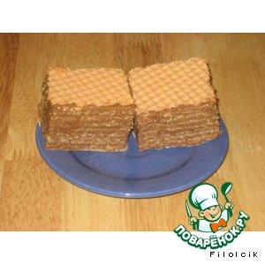 Рецепт: Вафельный торт Вкусняшка