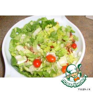Рецепт: Салат из помидоров и грецких орехов