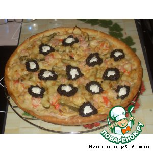 "Рецепт: Пицца ""Атлантида"""