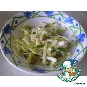 Рецепт: Полезный капустный салатик