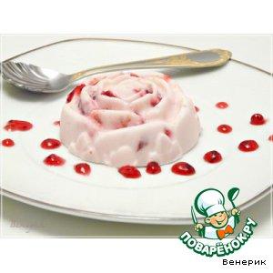"""Рецепт: Творожно-вишнeвый холодный десерт """"А-ля мороженое"""""""