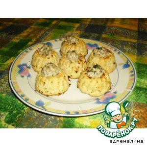 Рецепт: Куриные маффины с баклажанной начинкой