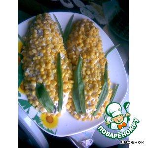 """Рецепт: Салат """"Початки кукурузы"""""""