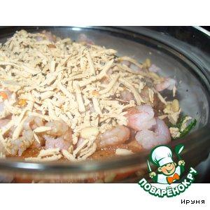 Рецепт: Постный салат с морепродуктами