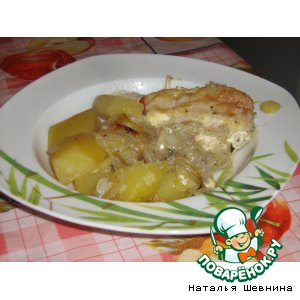 Рецепт: Картофель с курицей в рукаве