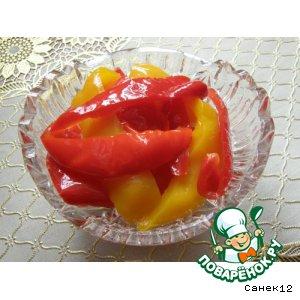 Двухцветный маринованный перец – кулинарный рецепт