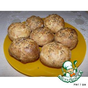 Рецепт: Творожно-сырные булочки