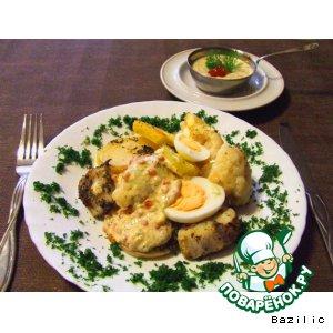 Рецепт: Печеный картофель под икорным соусом