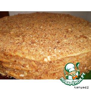 Рецепт: Постный торт Наполеон на пиве