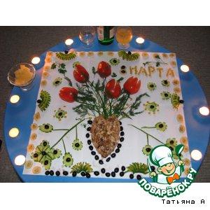 Рецепт: Фаршированные помидоры Букет Весны