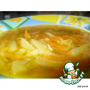 Рецепт: Суп с кальмарами