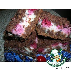 Рецепт: Вишнево-шоколадный пирог с рассыпчатой крошкой