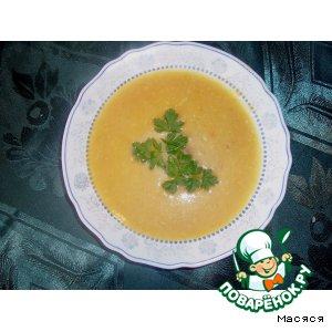 Рецепт Сырно-овощной суп-пюре с фрикадельками