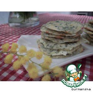Рецепт: Сырные галетки