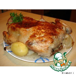 Рецепт: Курица Вкусненькая