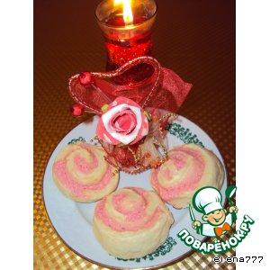 Рецепт: Пирожные Розы для Танюшки