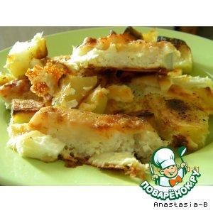 Рецепт: Морской язык с румяной картошечкой в духовке