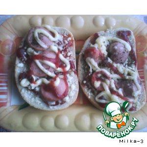 """Рецепт: Горячие бутерброды """"Мини-пиццы"""""""