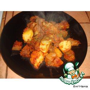 """Рецепт: Язык с картошкой """"от Маруси"""""""