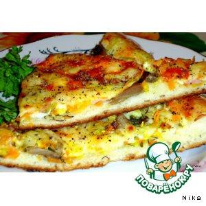 """Рецепт: Пицца   """"Яркая"""""""
